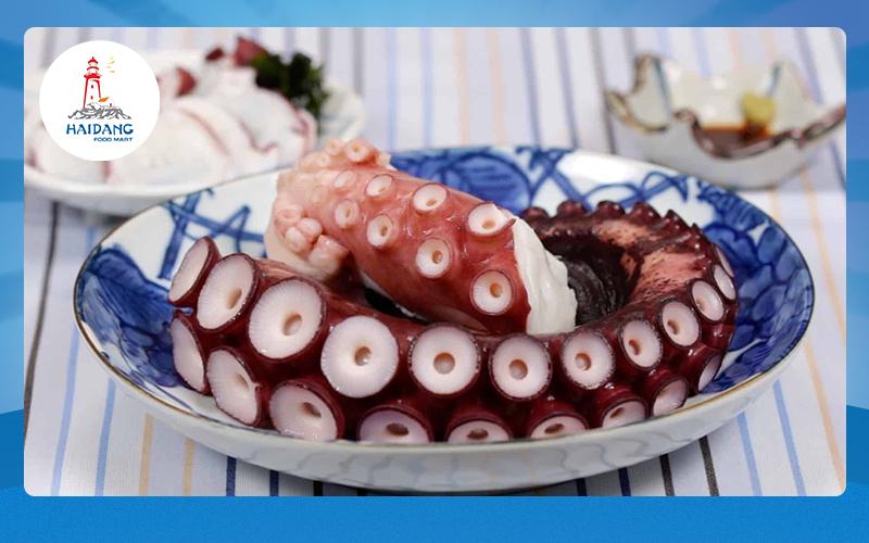 Bạch tuộc Nhật được Hải Đăng Foodmart nhập khẩu trực tiếp từ Nhật Bản